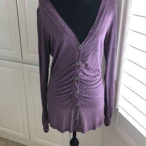 Women's purple Cardigan